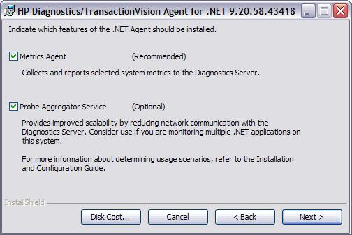 Hp Diagnostics  NET Agent Installation and Configuration